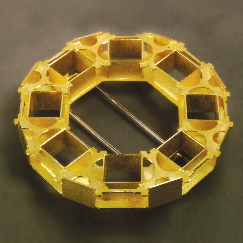 Brosche  1989  Gold  750  D  54  mm