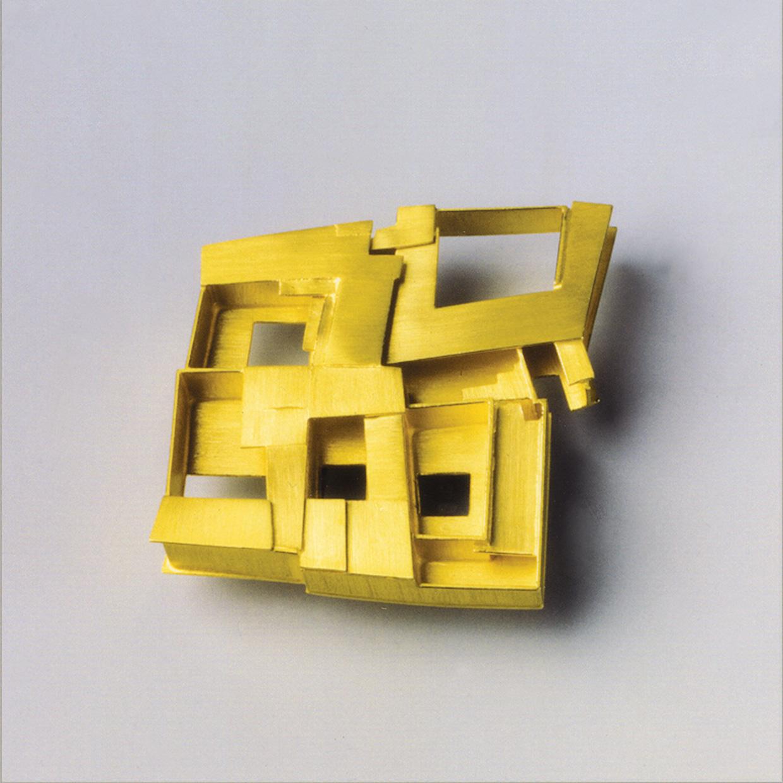 Brosche  1992  Gold  750  34x35  mm