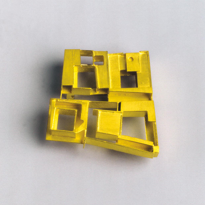 Brosche  1992  Gold  750  32x30  mm