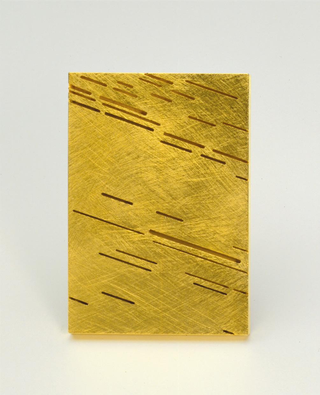 Brosche  2001  Gold  750  44x63  mm