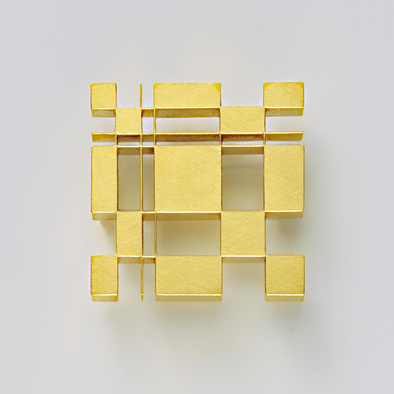 Brosche  2006  Gold  750  42x42  mm