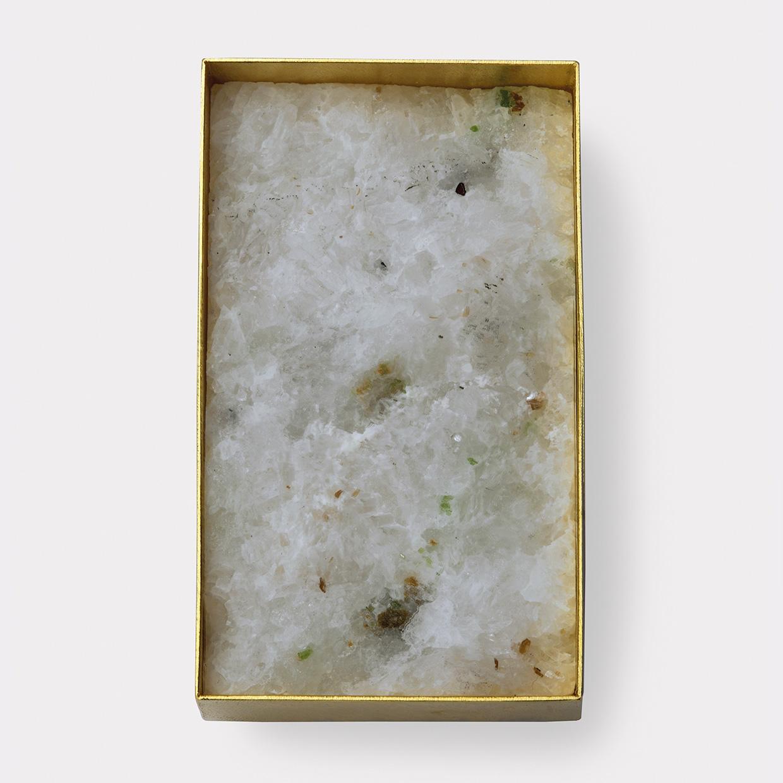 Brosche  2013  Gold  750  Marmor  Pargasit  50x29  mm