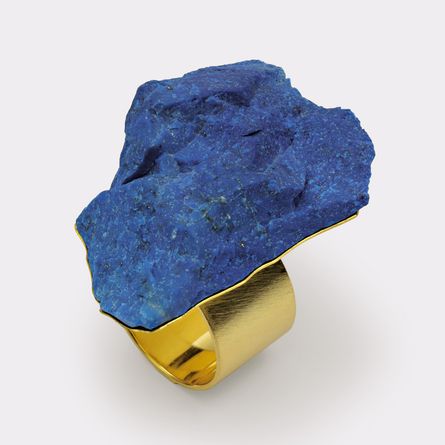 ring  2011  gold 750  lapislazuli  38x26  mm