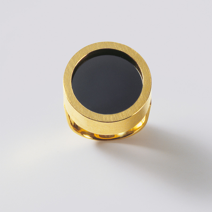 ring  2009  gold 750  haematit  d  20  mm