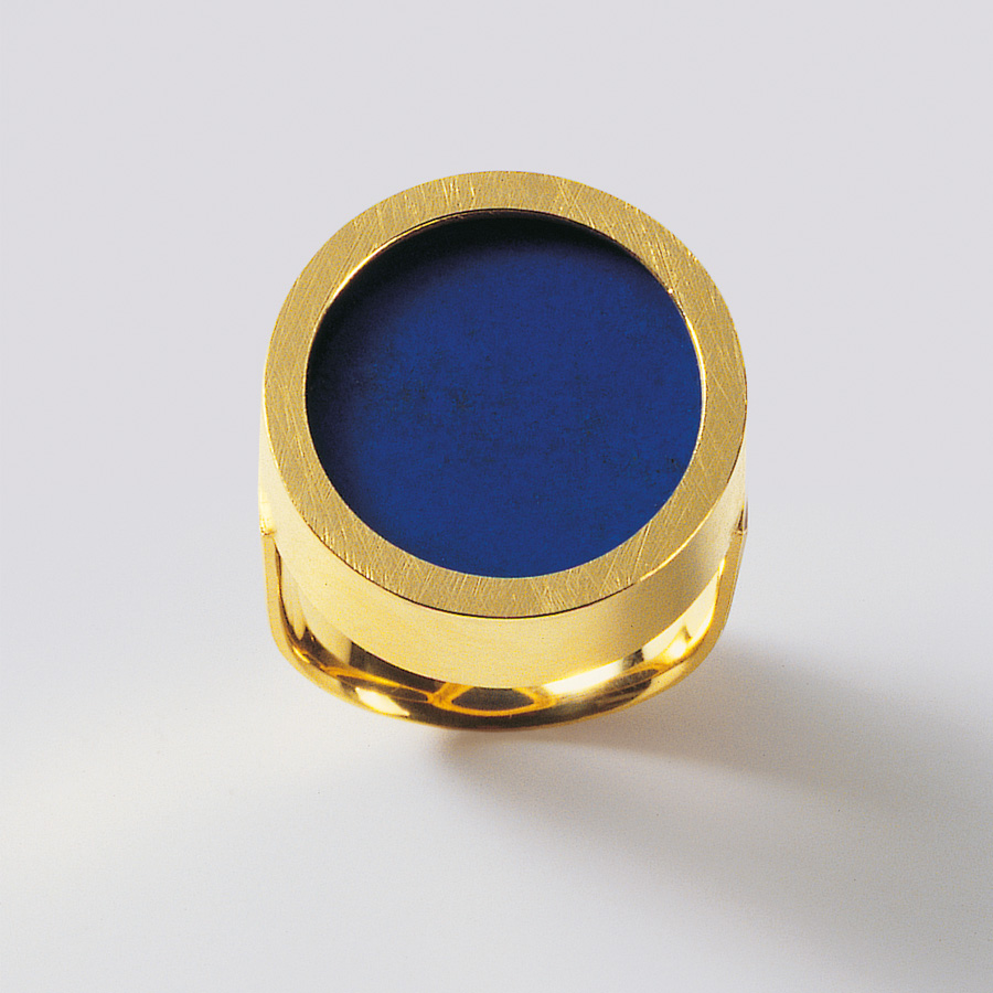 ring  2009  gold 750  lapislazuli  d  20  mm