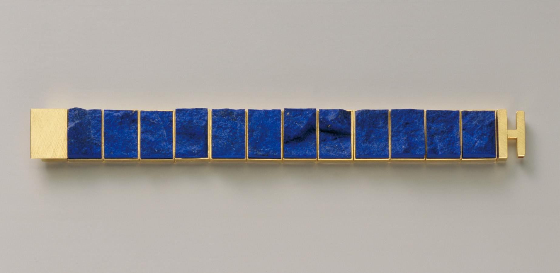 bracelet  2005  gold 750  lapislazuli  176x19  mm