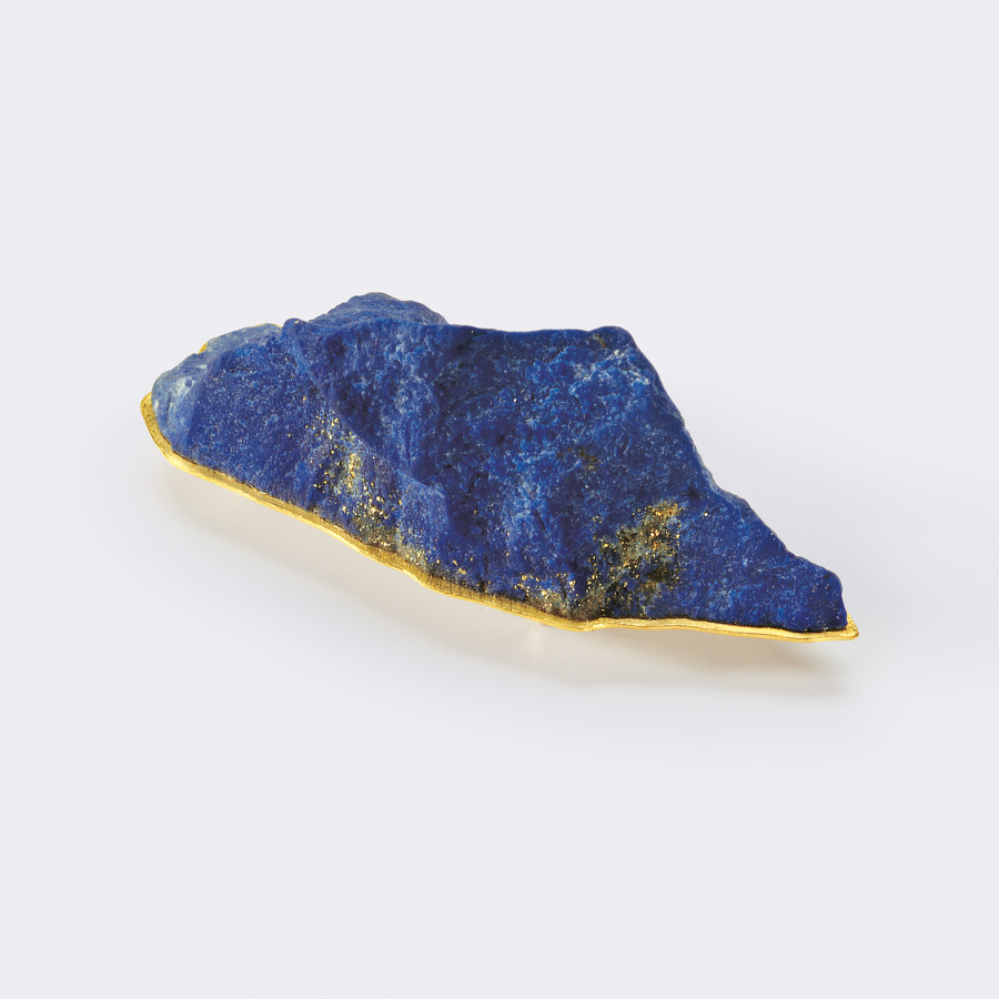 brooch  2010  gold 750  lapislazuli  60x22  mm