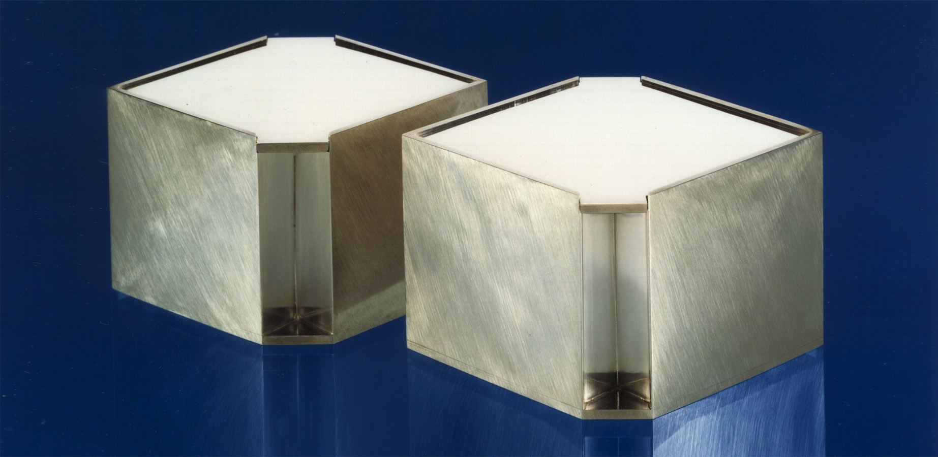 2  Dosen  1987  Silber 925  91x68x68  mm