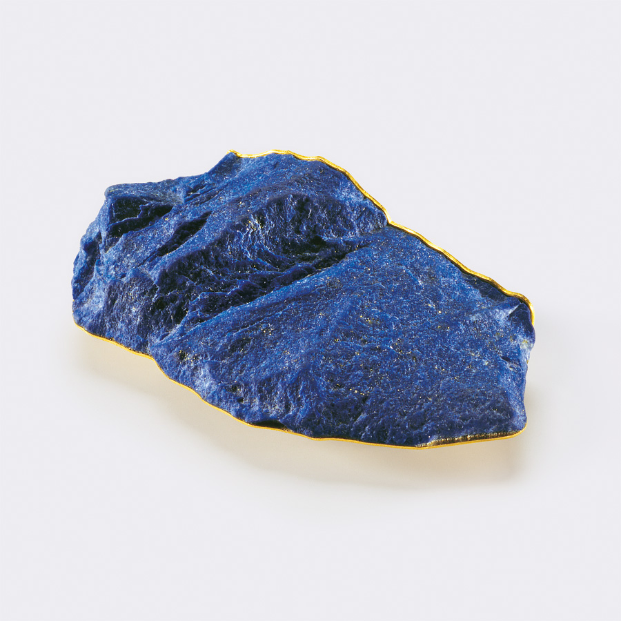 brooch  2010  gold 750  lapislazuli  60x33  mm