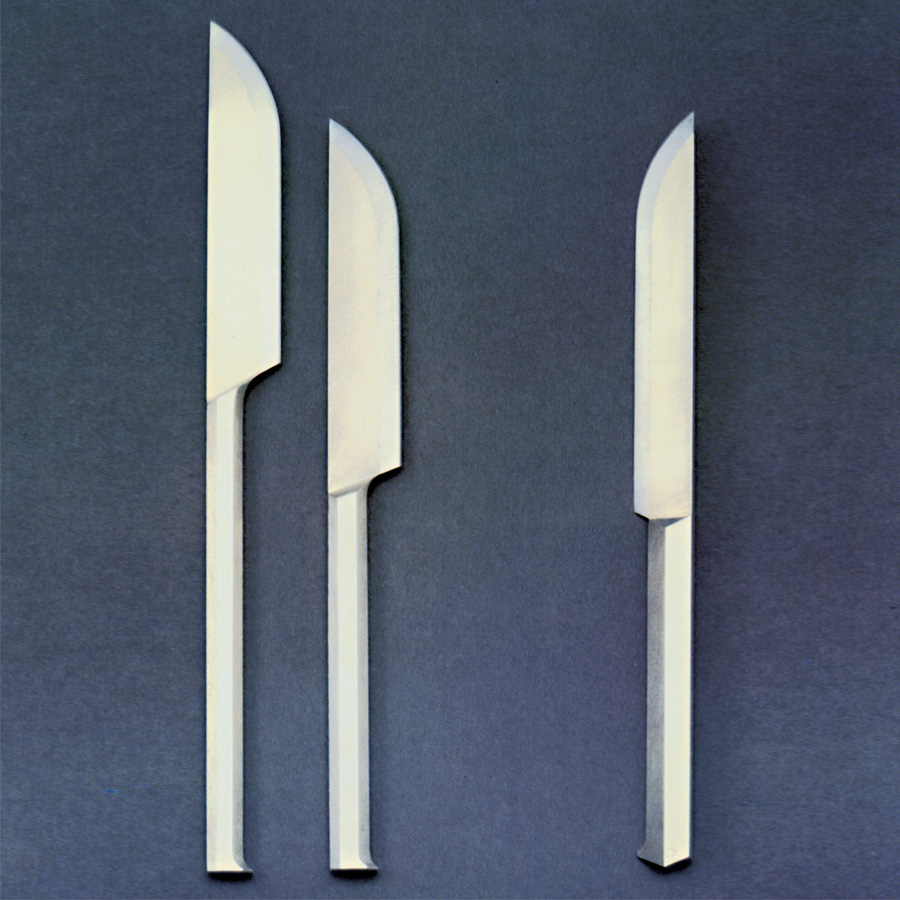 3  knifes  1987  silver 925  high-grade steel  225-250  mm