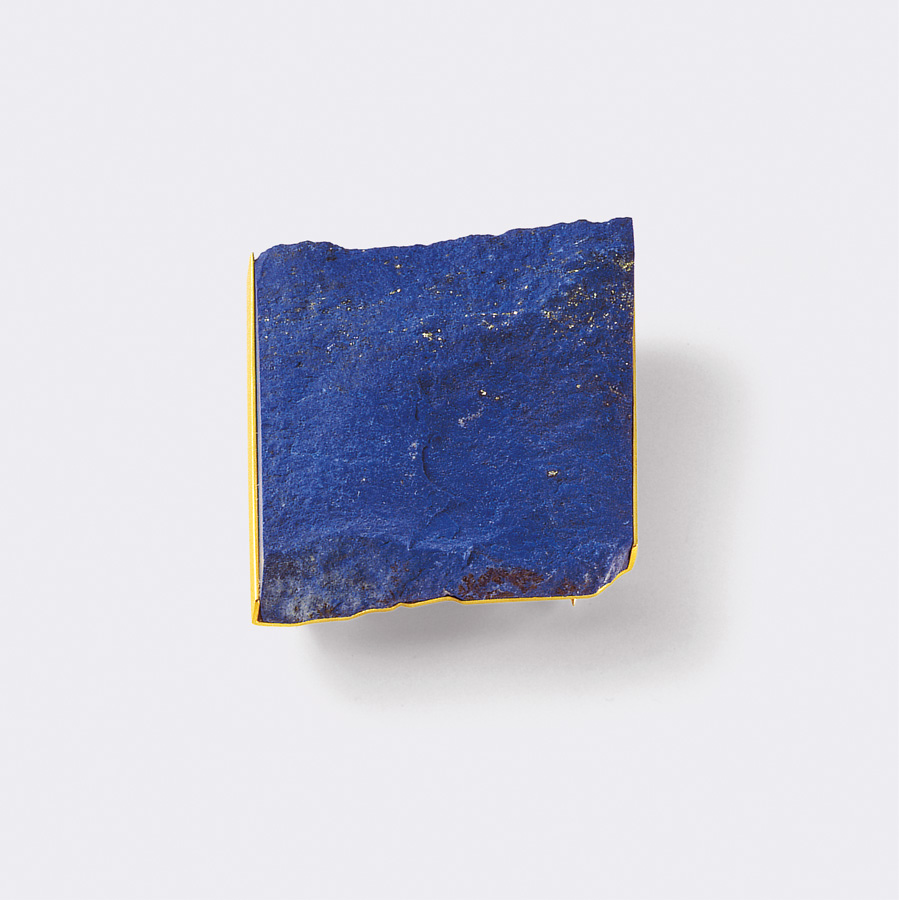 brooch  2008  gold 750  lapislazuli  43x40  mm