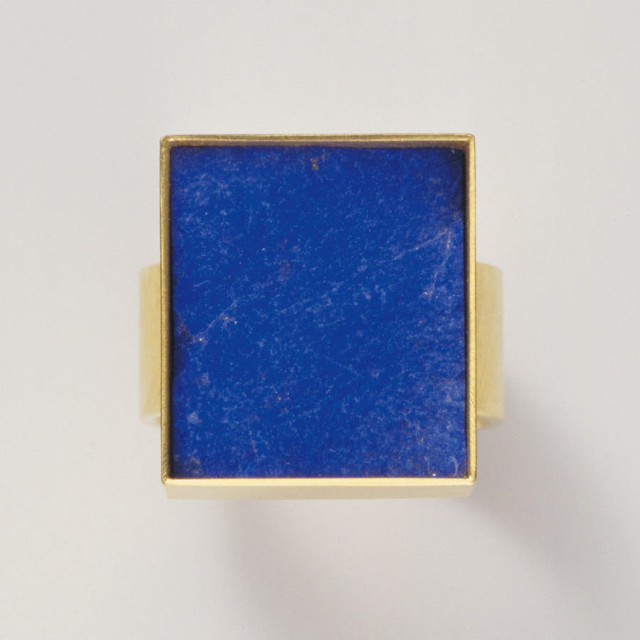 ring  gold 750  lapislazuli  21x18,5  mm