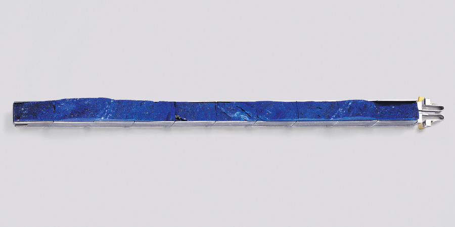 bracelet  2008  white gold  750  lapislazuli  180x8  mm