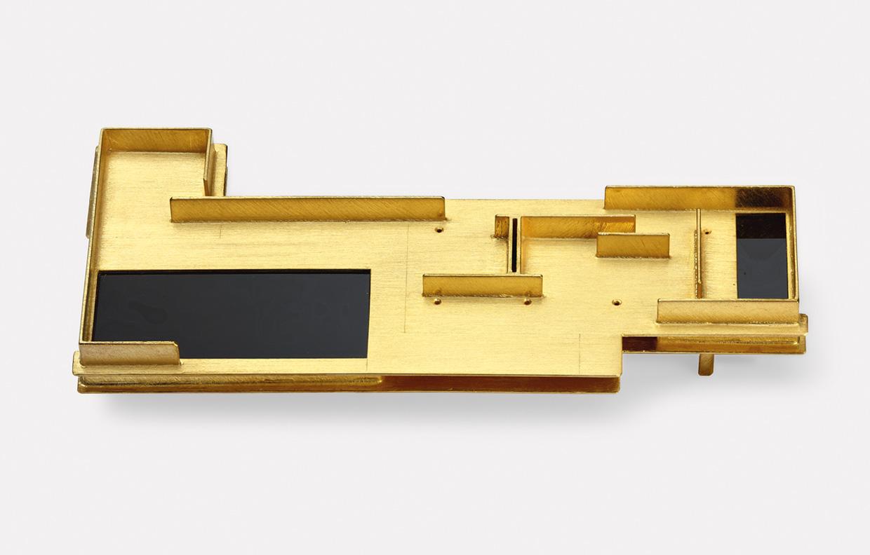Brosche  1989  Barcelona  2  Gold  750  65x29  mm