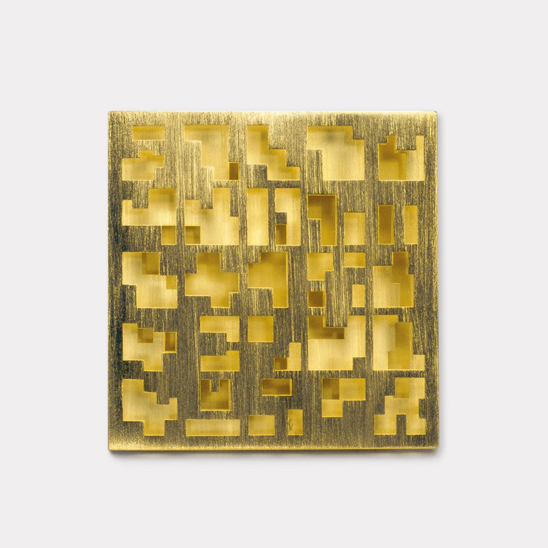 Brosche  2000  Gold  750  38x38  mm
