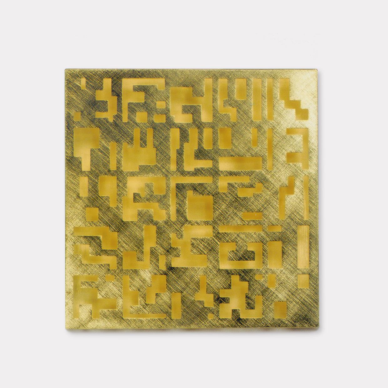 Brosche  2000  Gold  750  42x42  mm