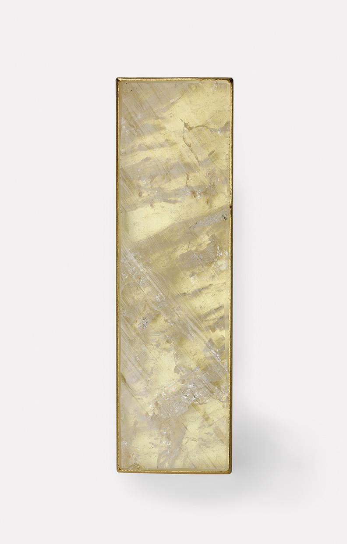 Brosche  2017  Gold  750  Fadenquarz  63x18  mm