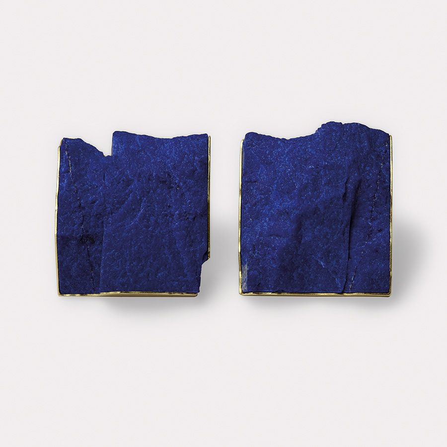 Ohrclips  2017  Gold  750  Lapislazuli  28x25  mm