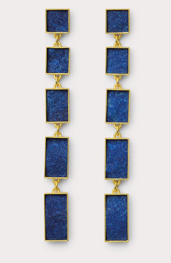 earrings  2012  gold  750  lapislazuli  68x7  mm