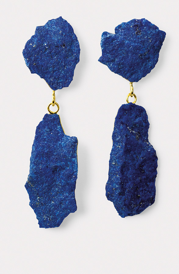 Ohrringe  2013  Gold  750  Lapislazuli  86x13  mm