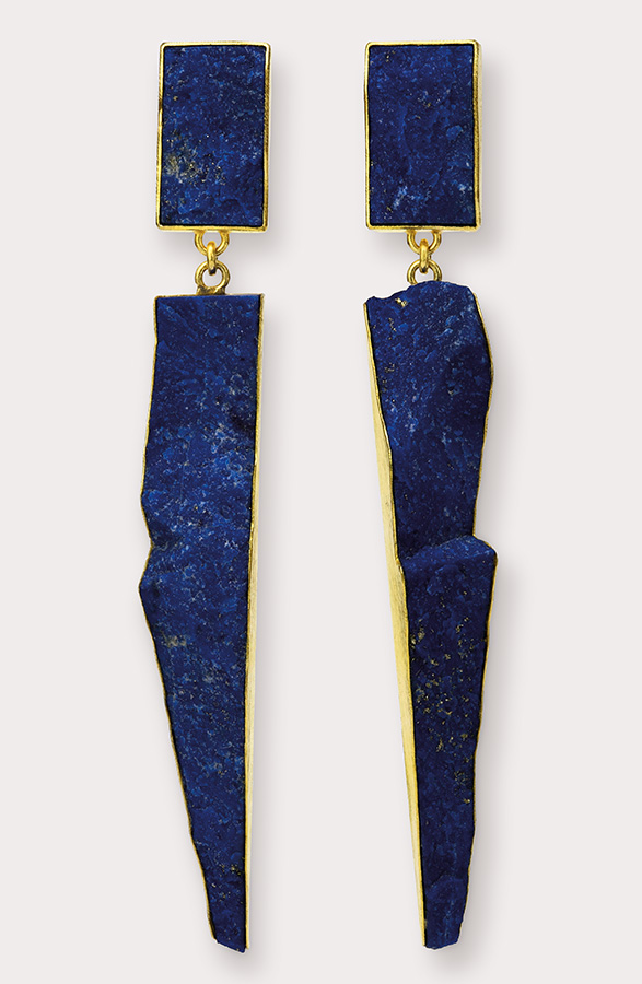Ohrringe  2017  Gold  750  Lapislazuli  78x18  mm