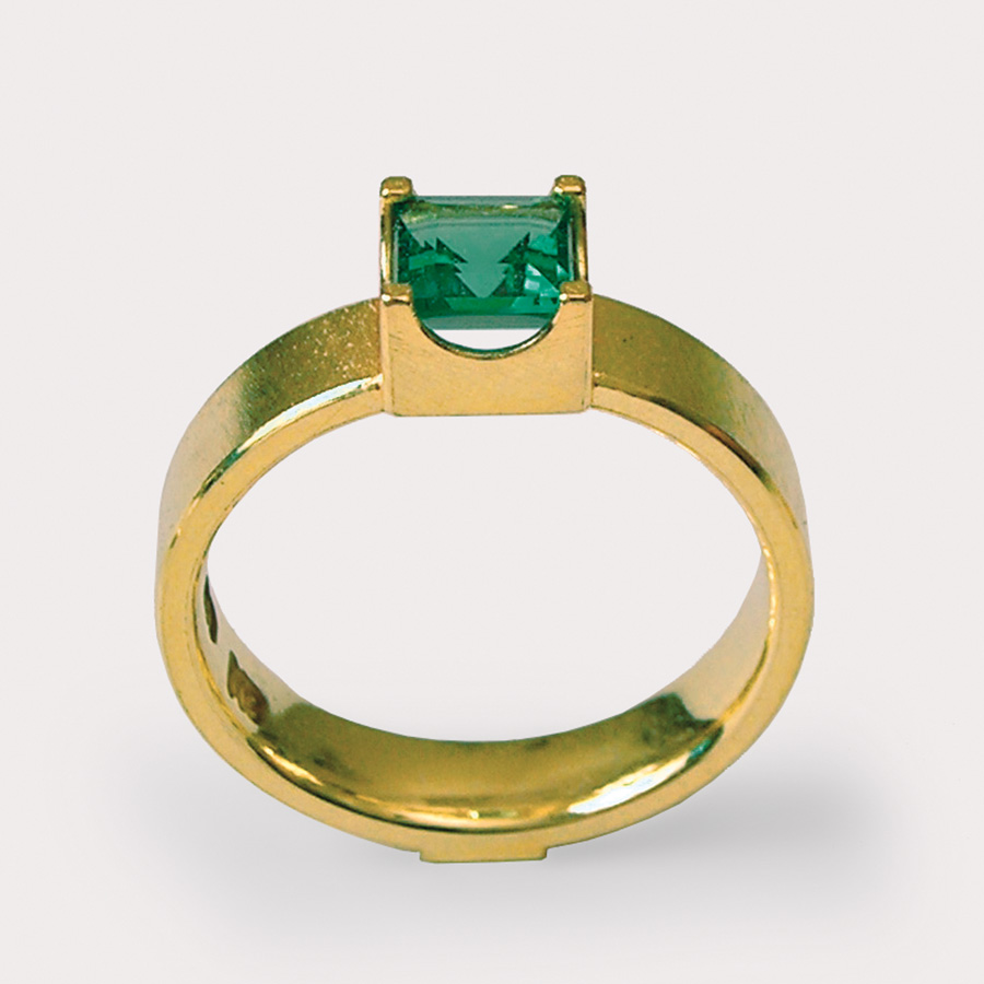 ring  2011  gold  750  tourmaline  6x6  mm