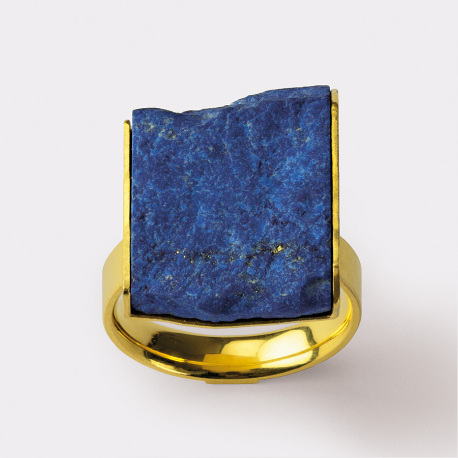 ring  2011  gold  750  lapislazuli  16x20  mm
