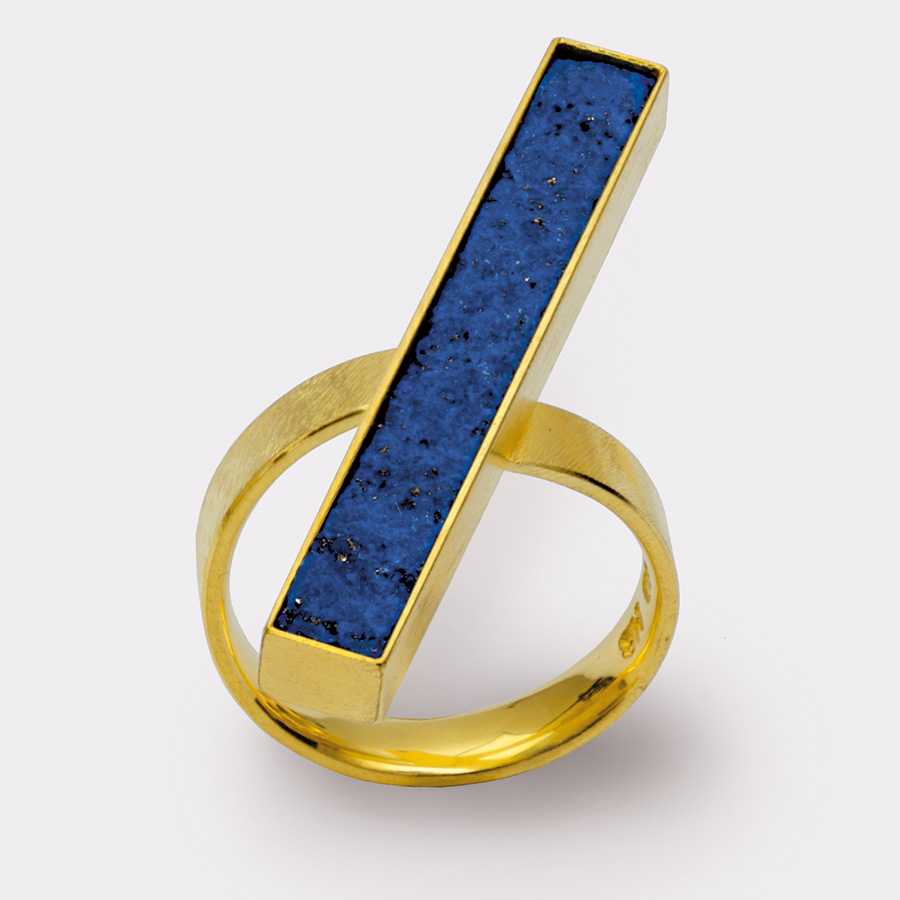 Ring  2011  Gold  750  Lapislazuli  4x37  mm