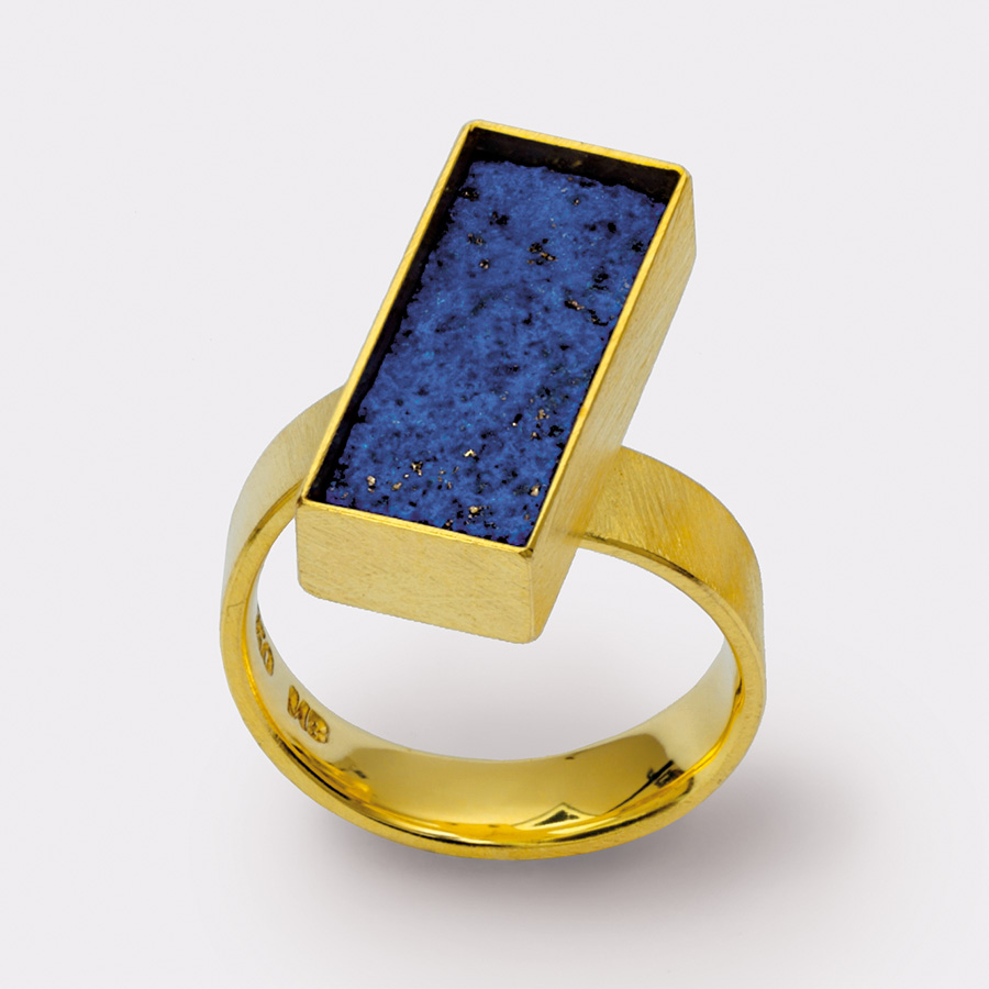 Ring  2011  Gold  750  Lapislazuli  9x19  mm