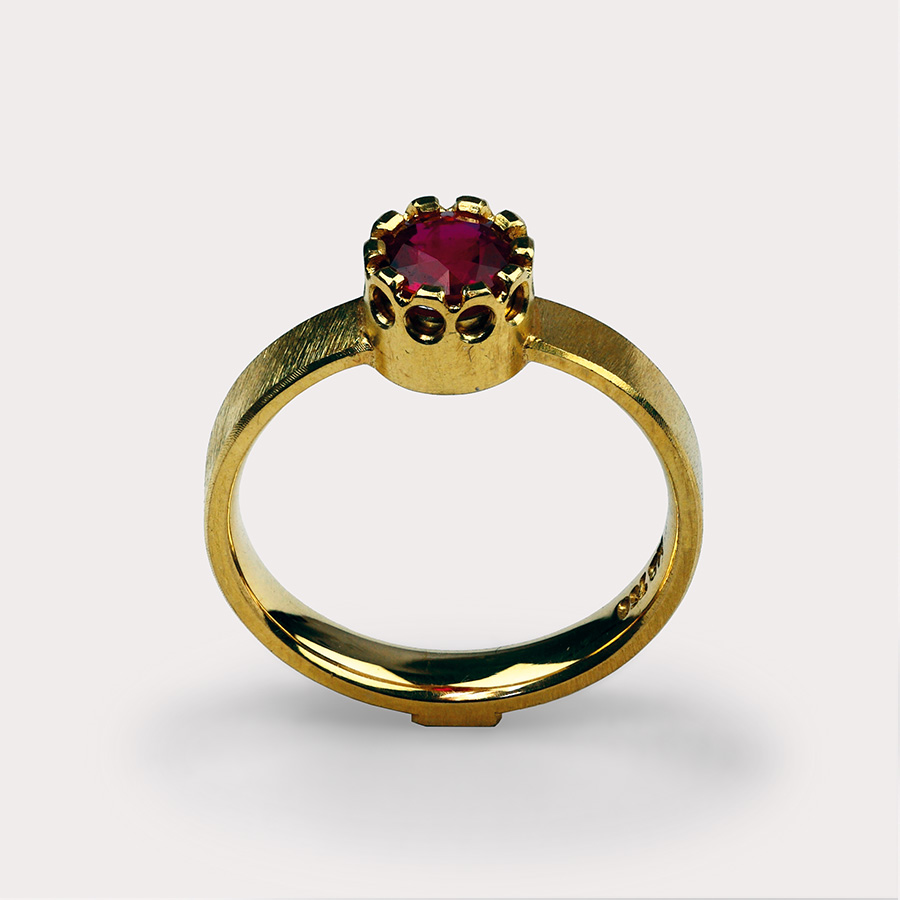 ring  2014  gold  750  rubin  d  6  mm