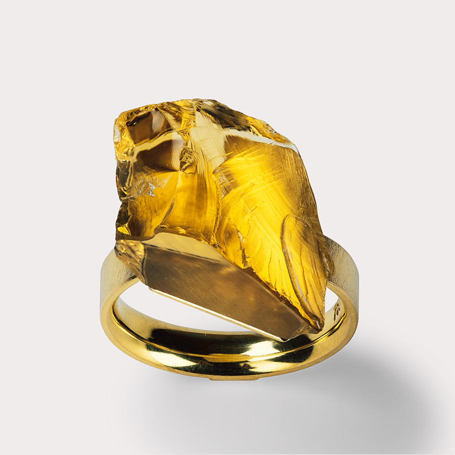 Ring  2015  Gold  750  Beryll  15,x13,5  mm  mm