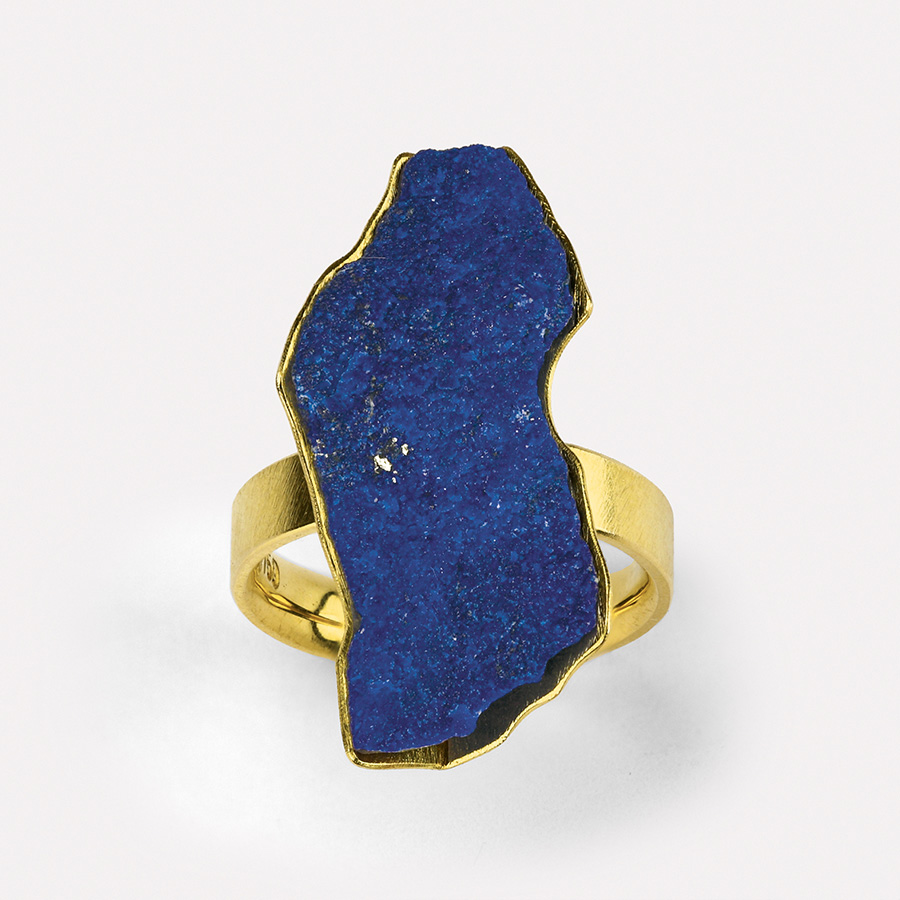 ring  2015  gold  750  lapislazuli  29x23  mm