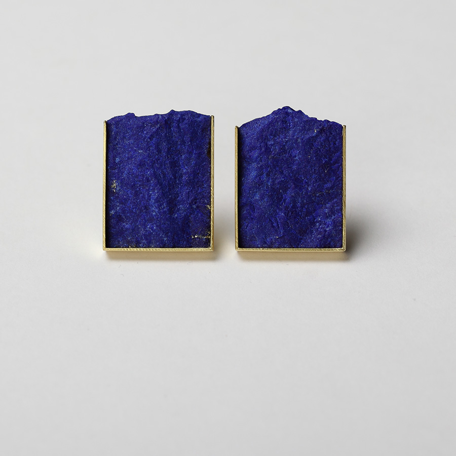 earrings  2015  gold  750  lapislazuli  29x22  mm
