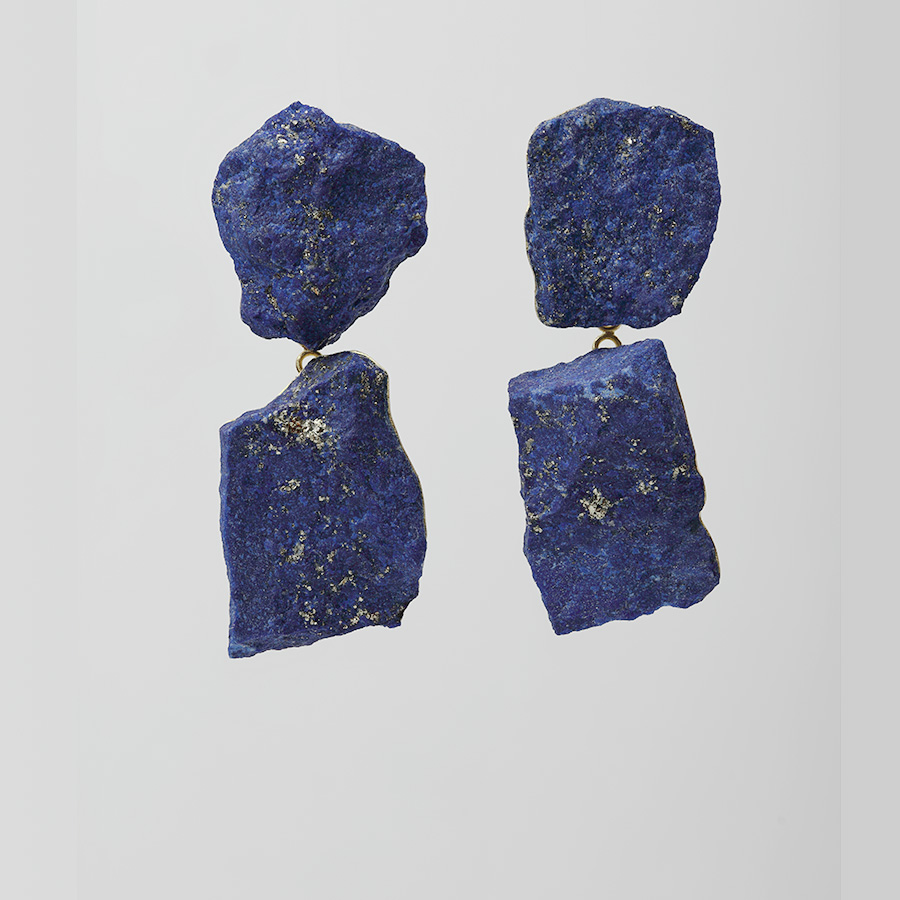 Ohrringe  2016  Gold  750  Lapislazuli  50x18  mm