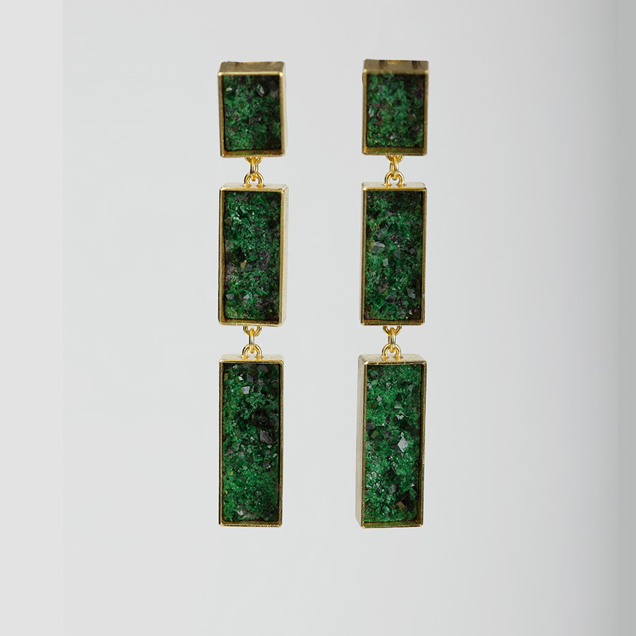 earrings  2016  gold  750  uwarovit  59x7  mm