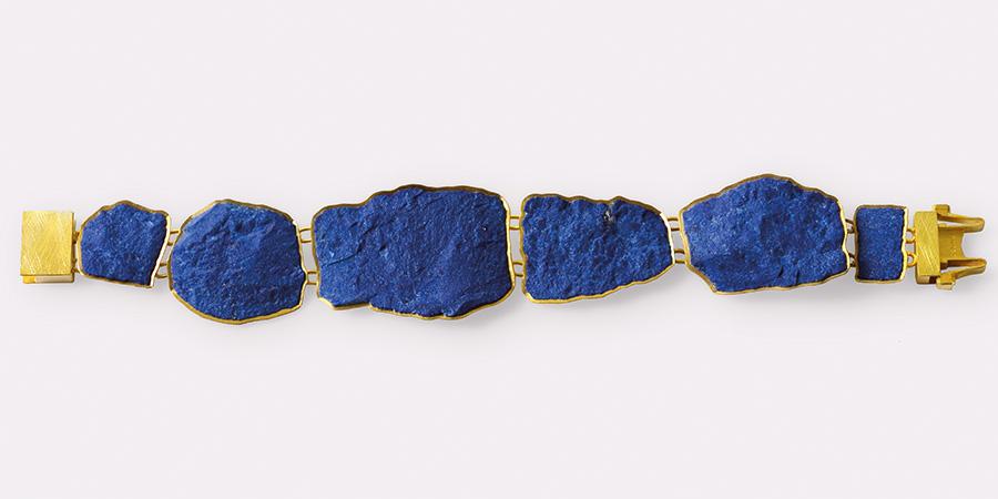 bracelet  2018  gold  750  lapislazuli  184x14  mm