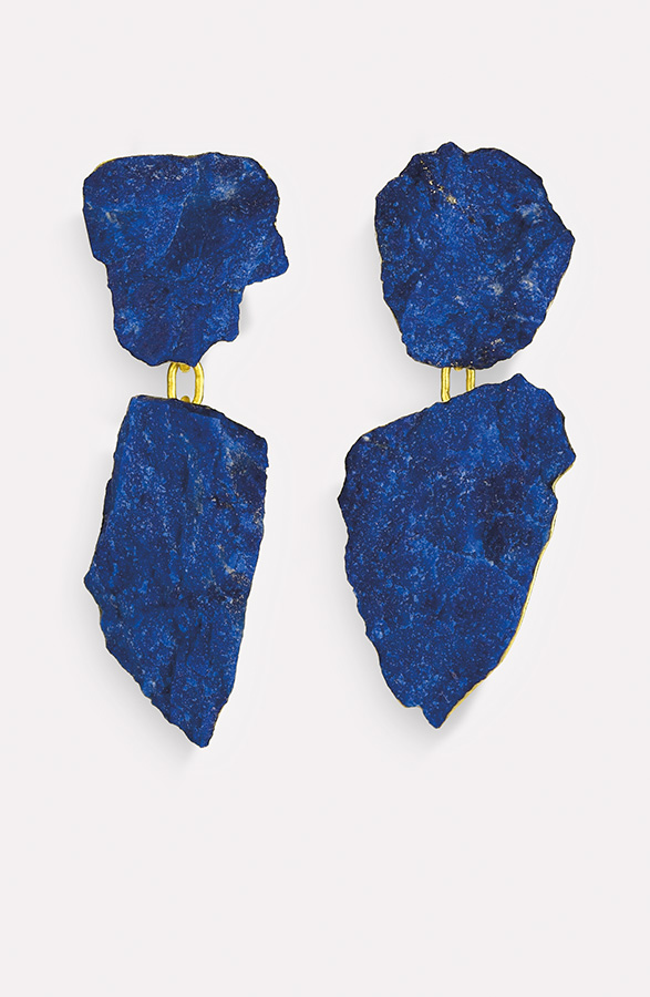 earrings  2018  gold  750  lapislazuli  43x17  mm