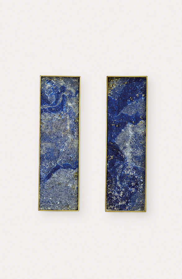 earrings  2019  gold  750  lapislazuli  48x15  mm