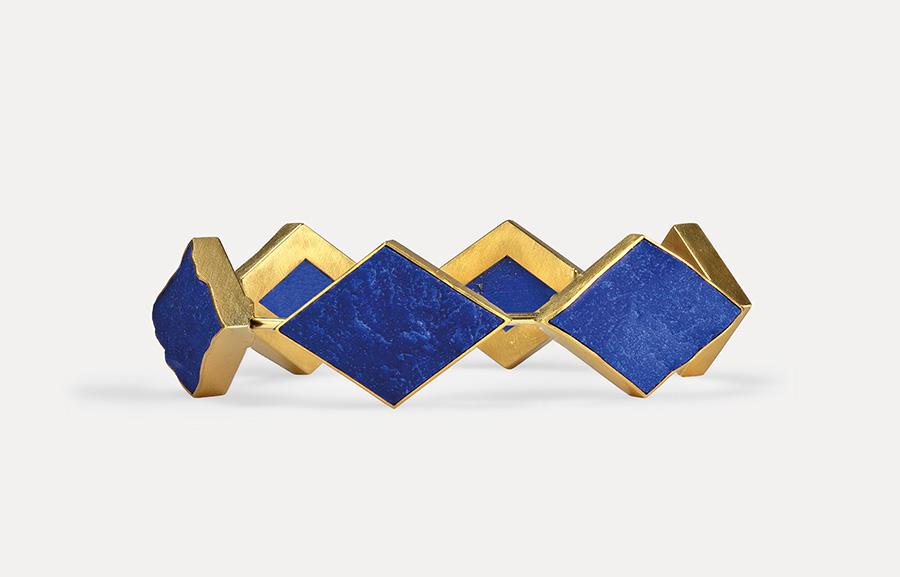 bracelet  2020  gold  750  lapislazuli  178x20  mm