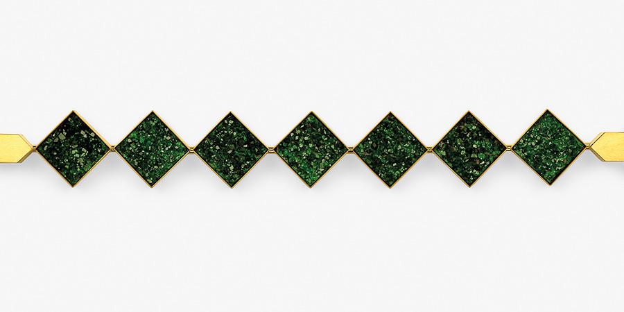 bracelet  2020  gold  750  uwarovit  176x21  mm